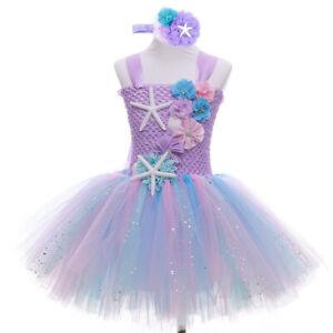 Girls Princess Pageant Dress Toddler Baby Wedding Party Flower Tutu Dress 3-6Y