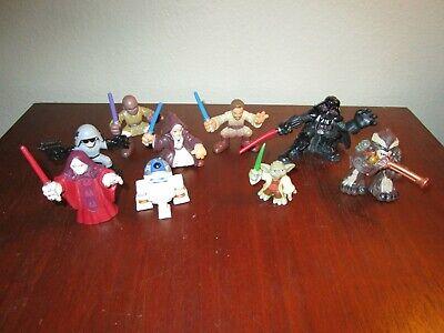 Star Wars Galactic Heroes Set of 9 Mini Figures Cake Toppers Set Toy Lot Bundle