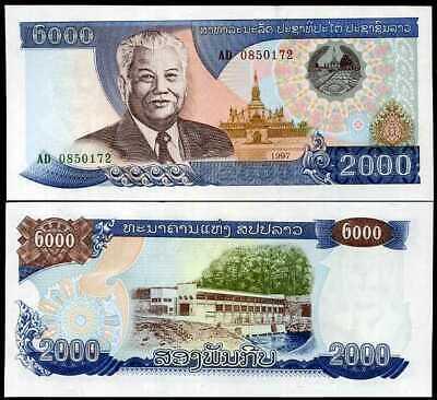 Lao Laos 2000 2,000 Kip 1997 P 33 Unc