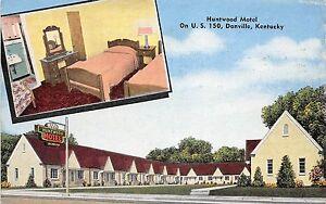 Kentucky-Ky-Postcard-Roadside-DANVILLE-Huntwood-Motel-2View-Interior