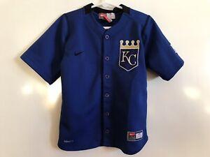 55f938da1 Nike Team KC Kansas City Royals Jersey Youth Size 4 MLB Genuine ...