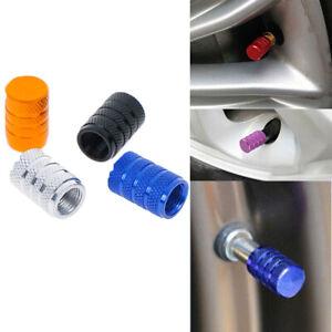 4Pcs-Aluminium-car-wheel-tyre-valve-stems-air-dust-cover-screw-cap-accessories