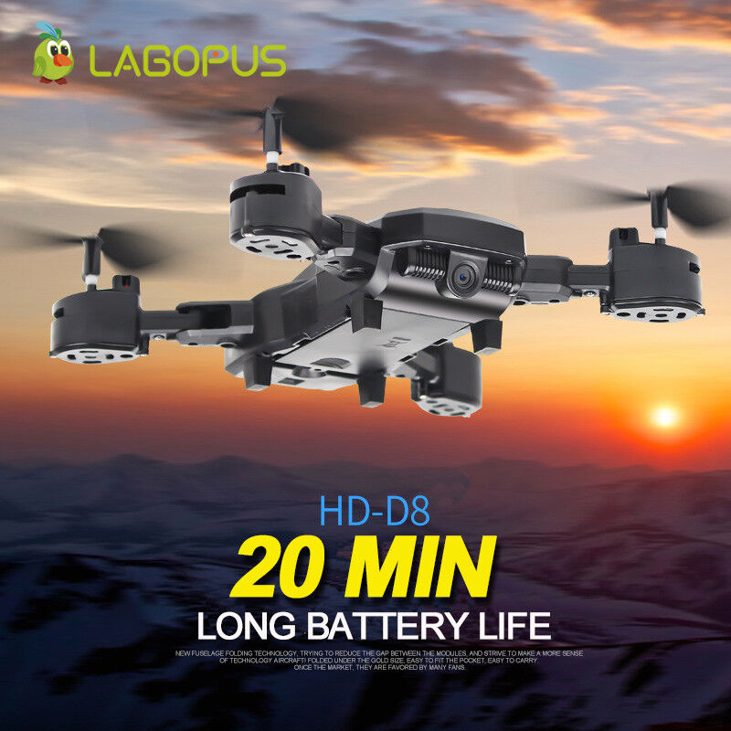 D8 Foldable 20 Mins Flight Duration WIFI 1080P Drone With Camera HD Quadcopter