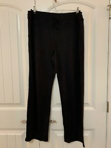 Black Cuddl Duds Ultra Soft Comfort Lounge Pants 1X