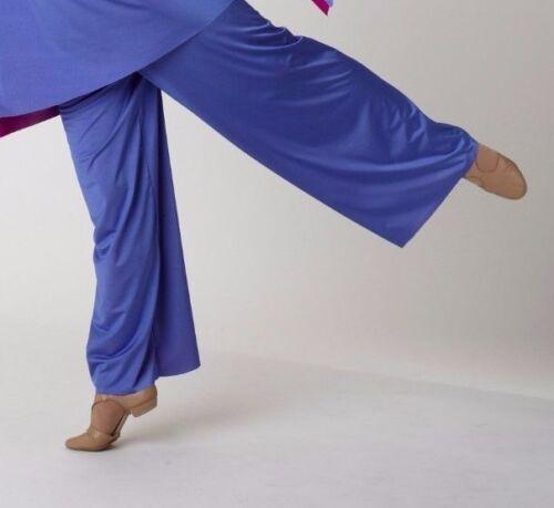 NEW Praise Dance Pants Iridescent 2 color Reversible teal gold ladies womens