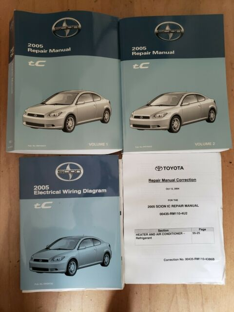 2005 Scion Tc Shop Service Repair Manual 1  2  U0026 Electrical