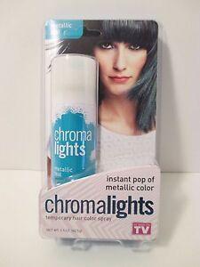 AS-SEEN-ON-TV-CHROMALIGHTS-Instant-Metallic-Blue-Color-Spray-Hair-Color