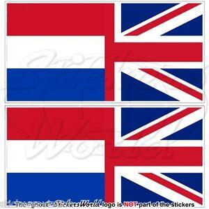 NETHERLANDS United Kingdom Flag Dutch UK British Union Jack 75mm