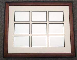 11x14 Brown Black Wood Ivory Black Core Matted Frame 25 X 35 Aceo