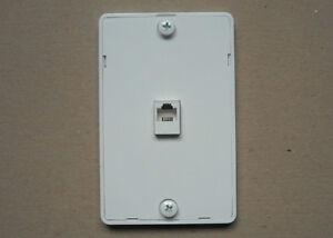 Tel Phone 4c Jack Modular Hanging Wall Mount Plastic Cover Plate