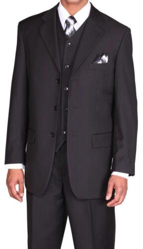 56L Men/'s Solid Three Button Wool Feel Suit w// Vest 5802V Multicolor Size 38R