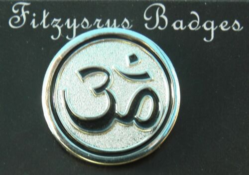 Om Lapel Pin Badge Brooch Aum Pranava Dharma Sacred Omkara Omkar Aumkara Hindu