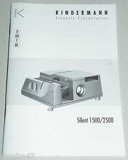 Originale Bedienungsanleitung manual Kindermann Silent 1500/2500 Anleitung