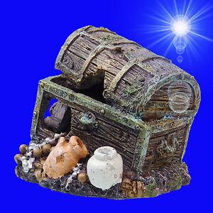 aquarium deko schatzkiste schatztruhe terrarium dekoration zubeh r h hle ebay. Black Bedroom Furniture Sets. Home Design Ideas