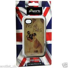 Union Jack Bulldog UK British Design Case Cover for iPhone 4 4S BRAND NEW