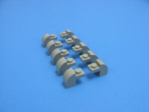 10x-LEGO-Old-Gray-Modified-Brick-1-x-2-x-1-1-3-Curved-Top-6090-6292-6278-6091