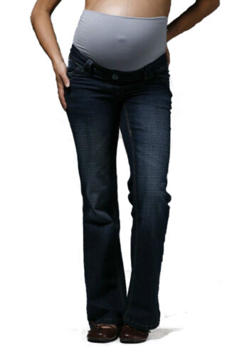 Over Bump Pregnancy Denims Petite Tall Plus Size Indigo Bootcut Maternity Jeans