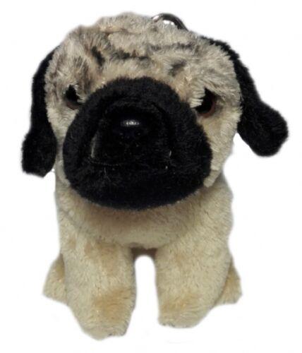 """UniToys Schlüsselanhänger Hund """"Mops"""" Anhänger 9 cm"""