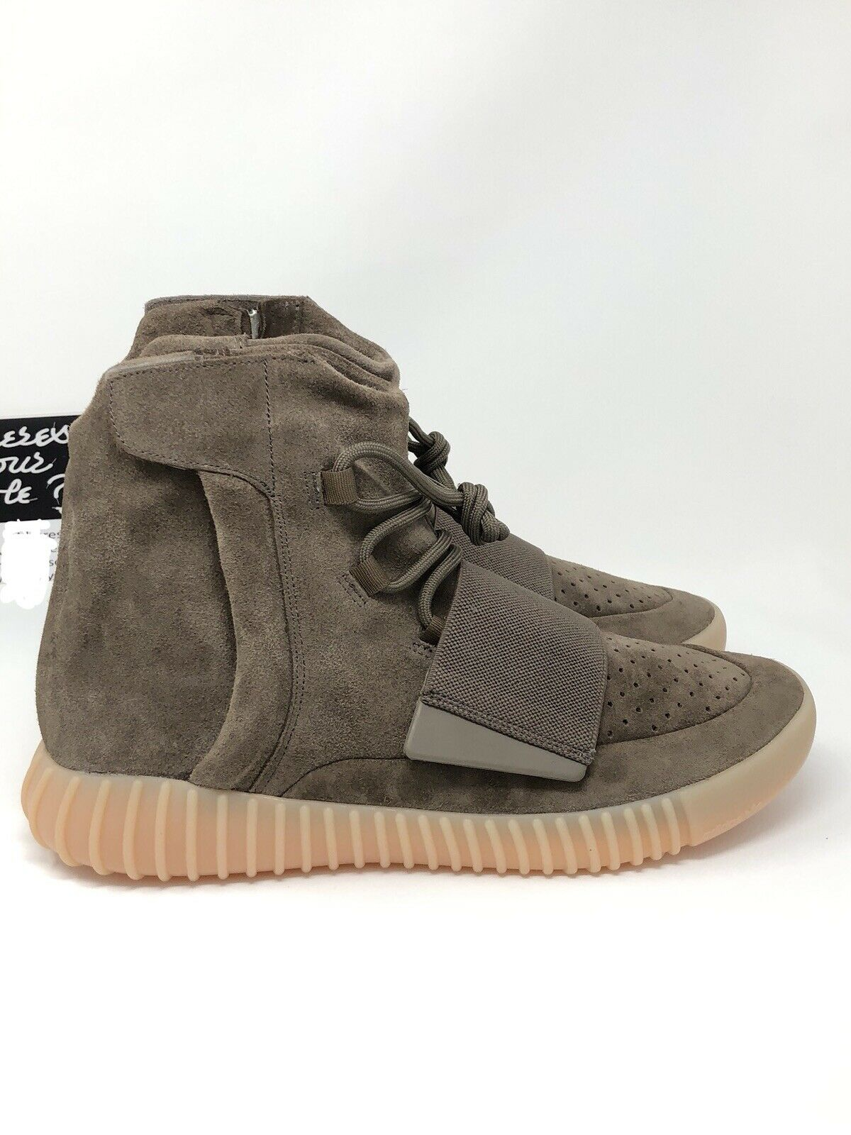 Adidas Yeezy 750 Boost Light Brown Size 10.5 Gum Chocolate Kanye West NEW BY2456