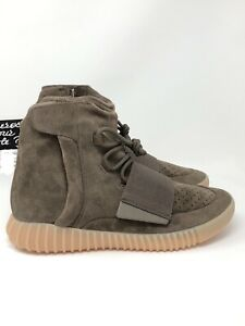 huge discount 3a955 219af Details about Adidas Yeezy 750 Boost Light Brown Size 10.5 Gum Chocolate  Kanye West NEW BY2456