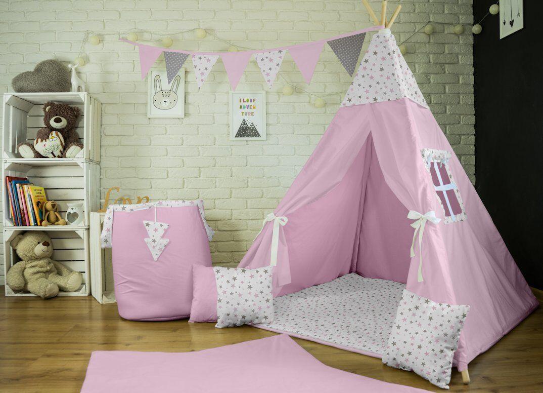 Tipi Spielzelt Geschenk Zelt Kinderzelt 4 4 4 Zubehör Indianer Decke 3 Kissen (14) 2eb6ea