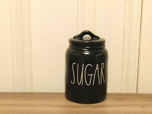 Rae-Dunn-Artisan-Collection-By-Magenta-SUGAR-Farmhouse-Baby-Small-Black-Canister