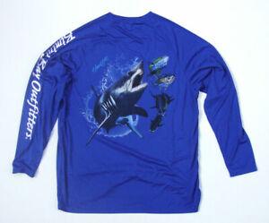 Bimini Bay Outfitters LS HOOK/'M Performance Fishing Shirt Mako Shark XXL