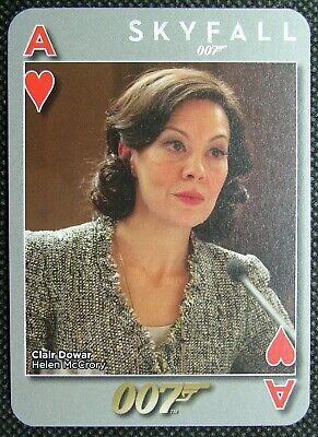 1 x Playing card James Bond 007 Skyfall Helen McCrory Ace ...