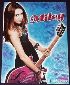 Miley Cyrus 3 POSTERS Centerfold Lot 2715A  Zac Efron on back