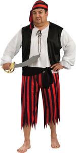 Pirate-Adult-Men-039-s-Costume-Shirt-amp-Pants-Halloween-Fancy-Dress-Rubies-Plus-Size