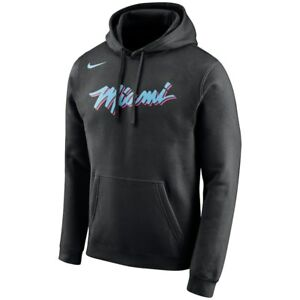 new arrival 85339 fefed Details about New Nike 2018-2019 Miami Heat City Edition Essential Logo  Hoodie Sweatshirt NWT