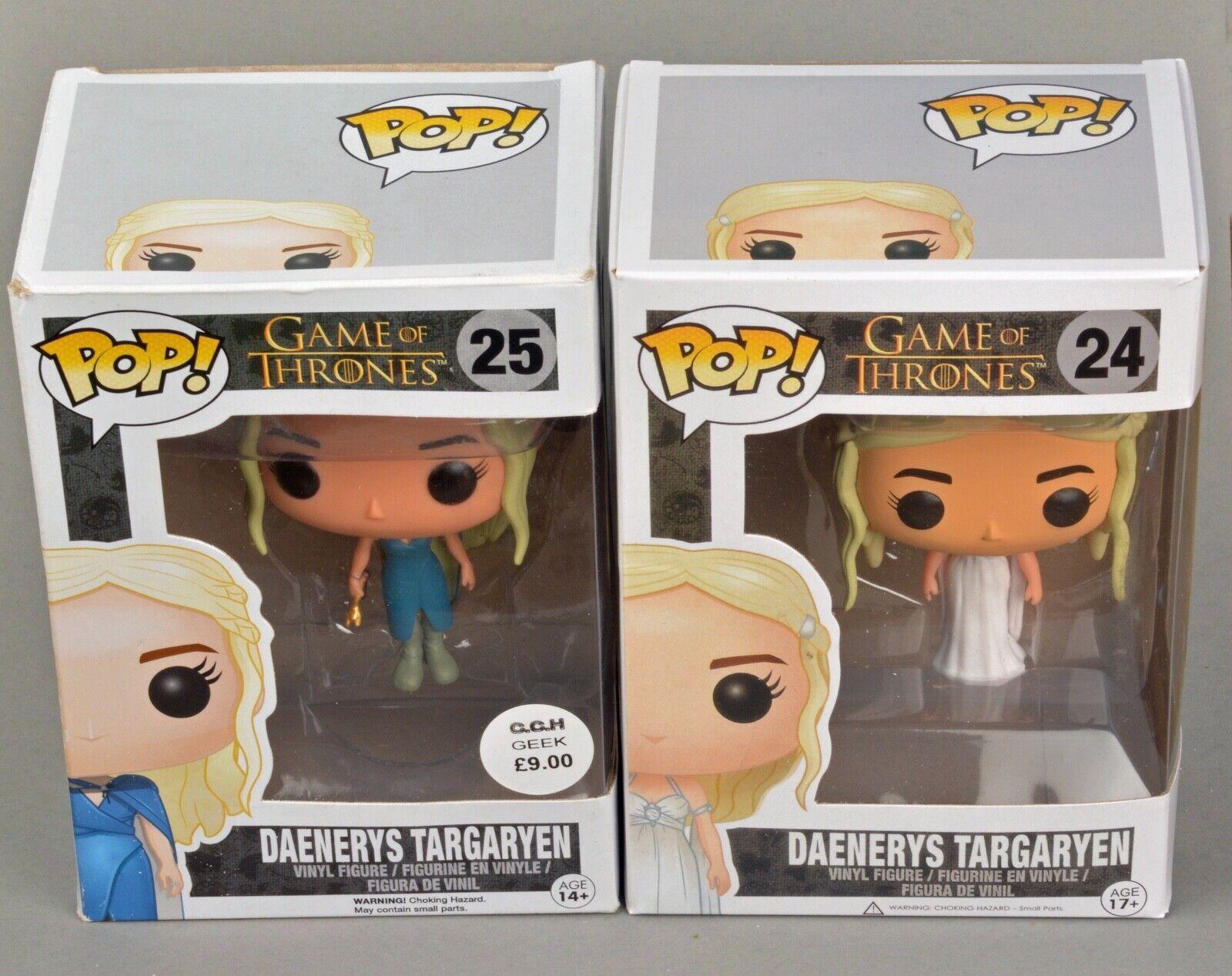 Funko Pop Vinyl Figures  Daenerys Targagyen Game of Thrones   24 and 25