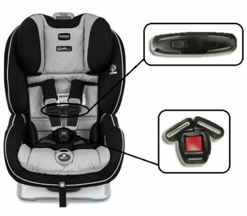 Britax Boulevard and ClickTight Baby Car Seat Harness Chest Clip /& Buckle Set