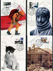 1999-AAT-Antarctic-Mawson-039-s-Hut-Maxi-Cards-Prepaid-Postcard-Maxicards-Stamps