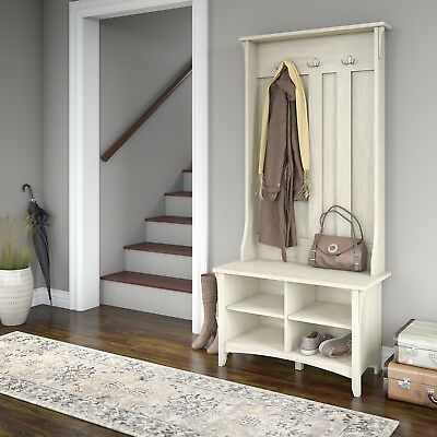 Bring Functional Style Into Your Foyer With A Traditional Hall Tree From The Seat To Woven Storage Baskets This Accent Piece Is Perfect Pick