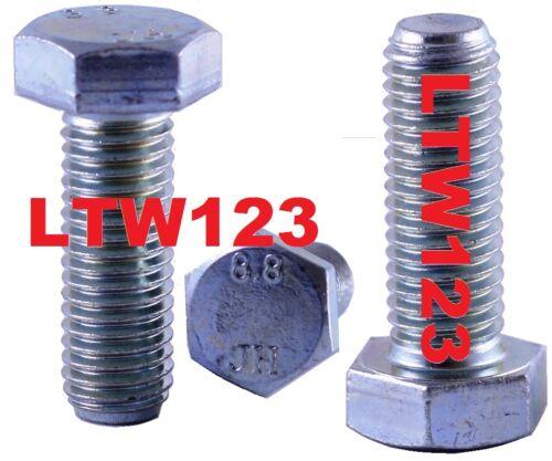 2 Zinc DIN 933 Class 8.8 Hex Cap Screw Bolt M14-2.00 x 45 mm FT