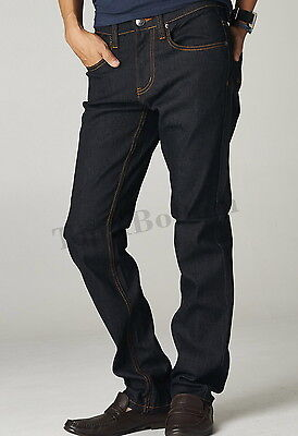 Mens Stylish Slim Fit Jeans Pants Stretch Pencil Casual Trousers