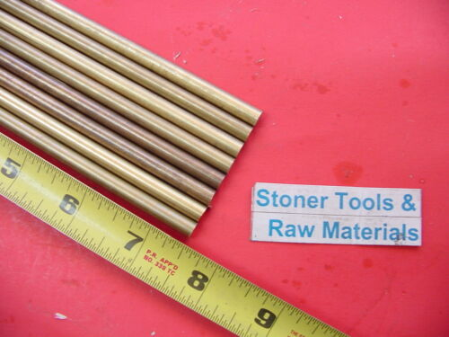 """50 Pieces 1//4/"""" C360 BRASS SOLID ROUND ROD 7.5/"""" long .25/"""" OD Lathe Bar Stock"""
