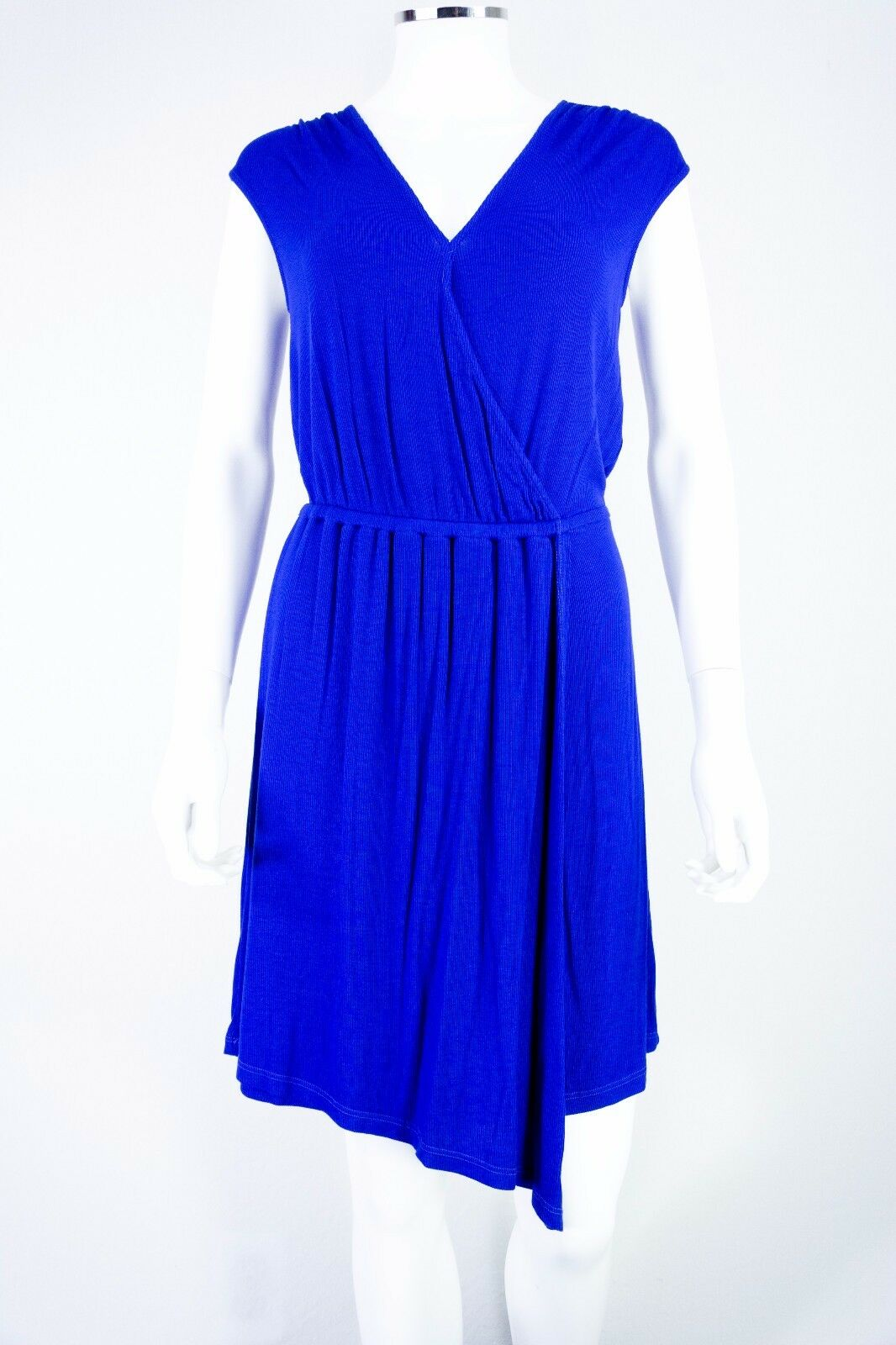 Women's Splendid size Small bluee Asymmetrical Wrap Ribbed Dress Made in USA NEW