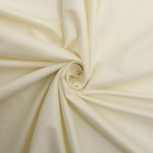 Crème Ivoire 100% Satin De Coton Rideau Doublure Tissu Matériau-vendu Par Le Mtr-afficher Le Titre D'origine