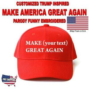 cca17610b5133 Image is loading Customized-MAKE-AMERICA-GREAT-AGAIN-HAT-Trump-Inspired-