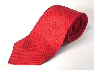 Vintage Austin Reed Of Regent Street 100 Silk Tie Red Blue Spot Ebay