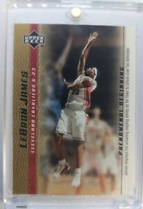 2003-03-04-Upper-Deck-Phenomenal-Beginning-Gold-LeBron-James-Rookie-RC-12-Cavs