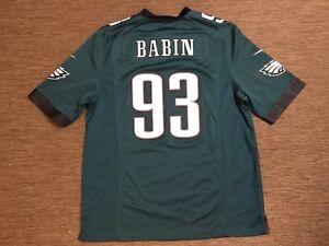 uk availability 69be9 d415e Details about NFL PHILADELPHIA EAGLES JERSEY JASON BABIN 93 SIZE Large NIKE  L