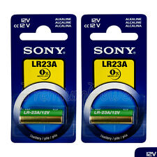 2 x SONY Alkaline LR23A batteries 12V A23 MN21 K23A 3LR50 LRV08 Alarm Calculator