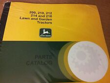 NEW JOHN DEERE 200 210 212 214 216 PARTS CATALOG