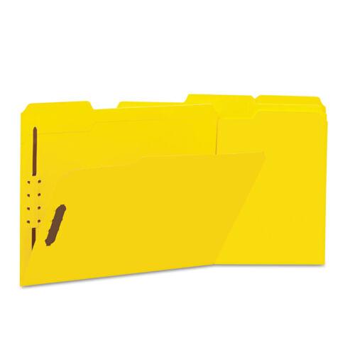 Universal Deluxe Reforzado Top Tab Carpetas 2 Sujetadores 1/3 Tab Carta Amarillo 50