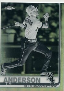 2019-Topps-Chrome-Black-and-white-186-Tim-Anderson-WHITE-SOX