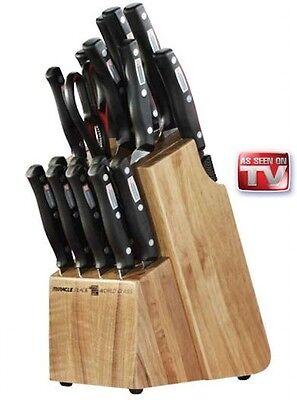 Miracle Blade World Class 18 Piece Knife & Block Set  NEW AS SEEN ON TV