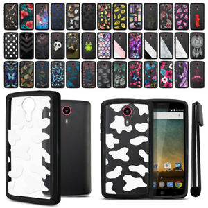 designer fashion efcc8 9d124 Details about For ZTE N817 Quest Uhura Hybrid Clear TPU bumper Case Phone  Cover + Pen